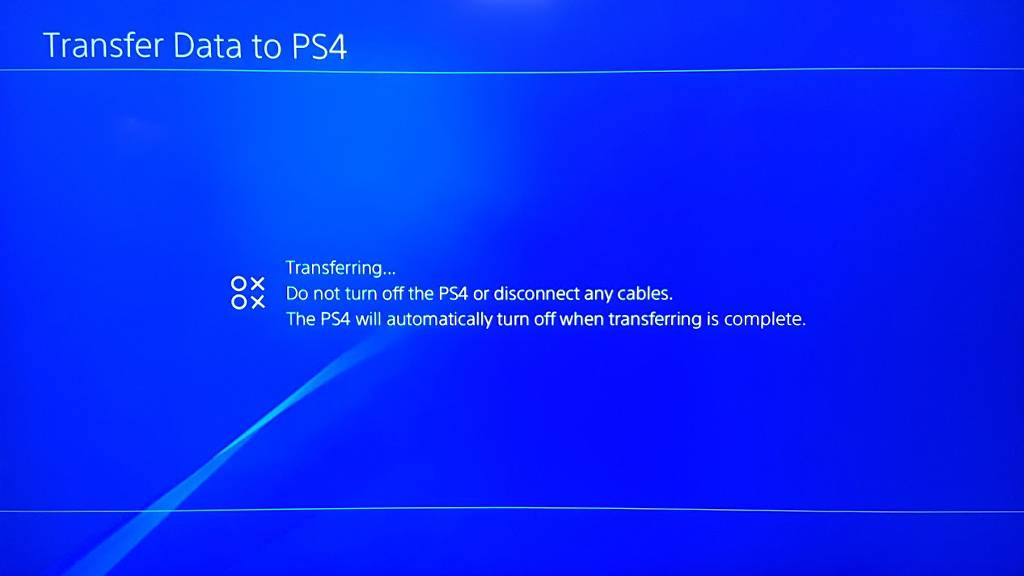 transfer data to ps4 pro