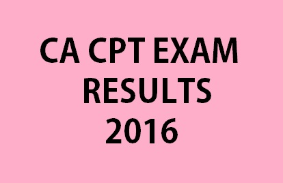 CA CPT November December 2016 Results Declared at icai.nic.in