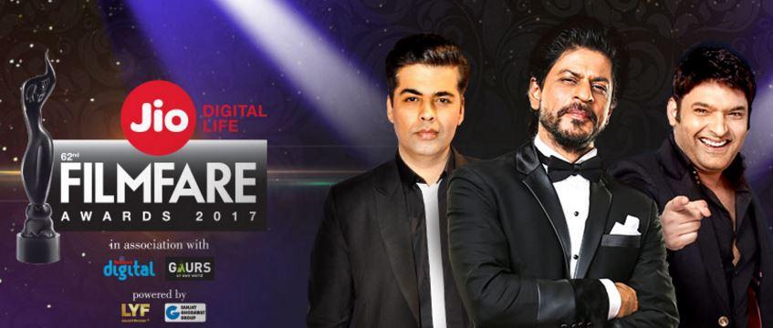 62nd Jio Filmfare Awards 2017