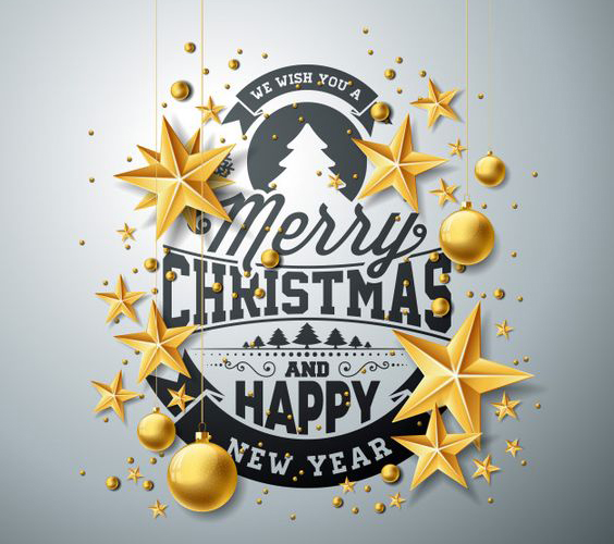 Merry Christmas and Happy New Year Image