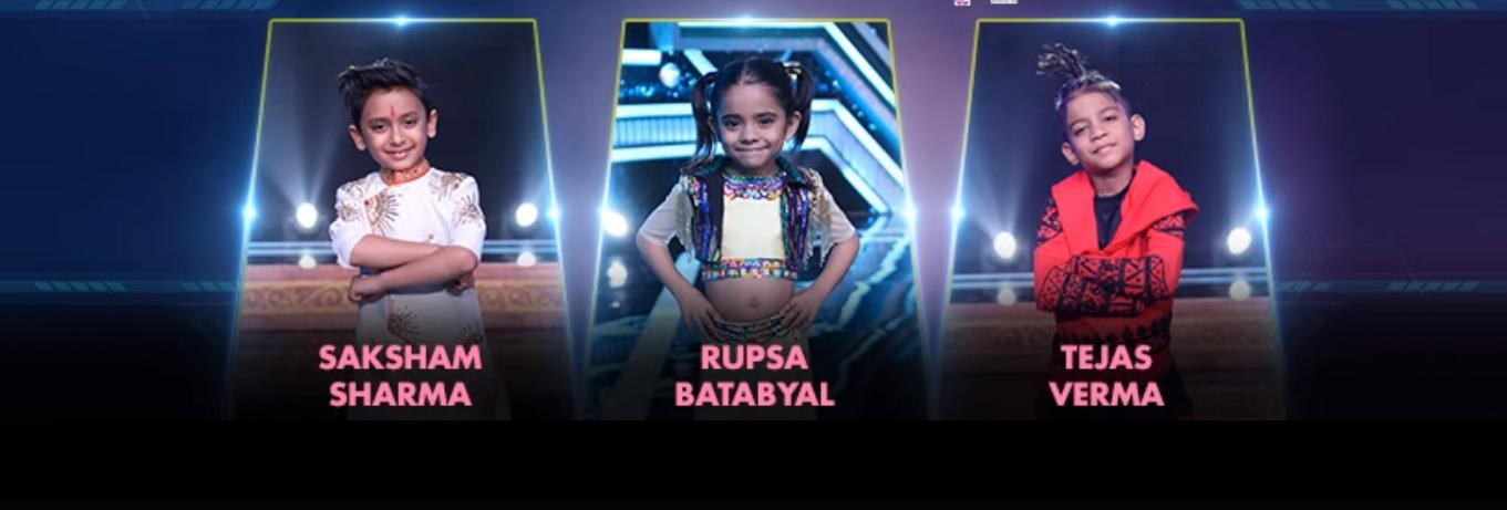 Super Dancer 3 contestants names