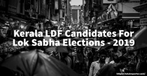 LDF Kerala Election Candidates 2019 CPIM