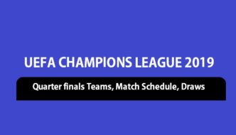 UCL 2019 quarter finals teams, schedule and draw