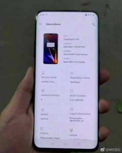 OnePlus 7 Pro Specifications, Features, and Images
