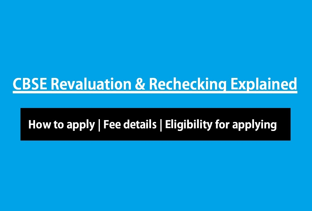 cbse revaluation rechecking