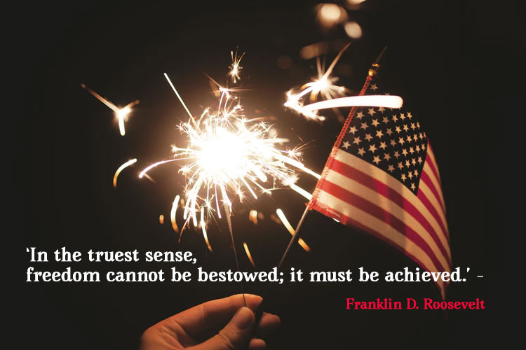 4th of July Image with Quote