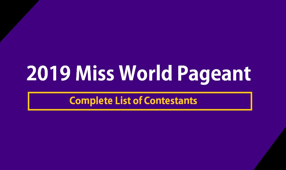 Miss World 2019 Contestant List
