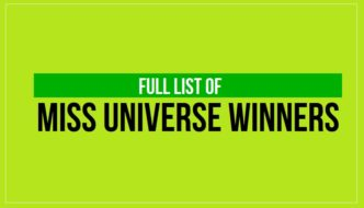 Miss Universe Winners List