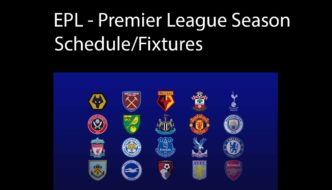 EPL - Premier League Season Schedule and Fixtures