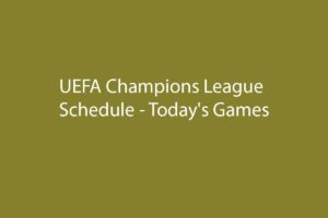 UEFA Champions League 2019-20 Schedule – Today's Games